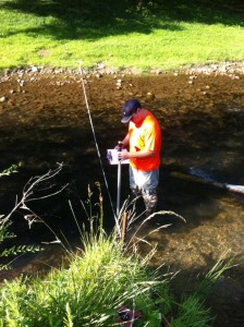 Our Field Crew Gathering Stream Velocity Measurements